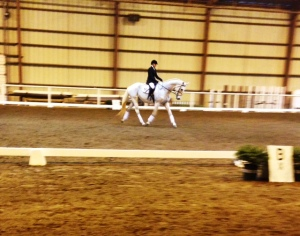 Jeana Rae Schaper riding her Upper Training Level test
