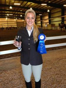 Congrats on a blue ribbon in Walk-Trot, Emma!