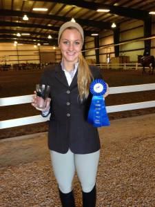 Congrats on a blue ribbon in Walk-Trot, Emma!