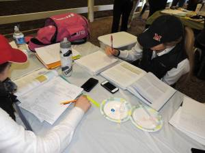 There's always time for homework between excellent equitation.