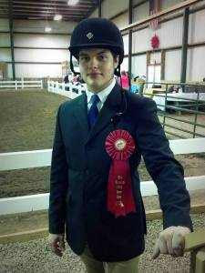Stephen George took second in his Walk-Trot class. Way to go, Stephen!