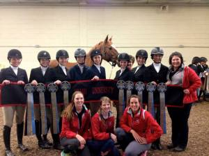 The Miami Hunt Seat team with Coach Heather Pinnick