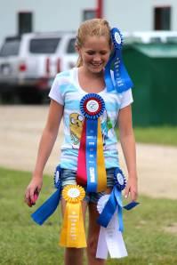 Chloe sporting her ribbons