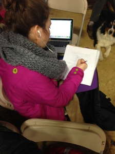 Studying and horse shows go hand in hand